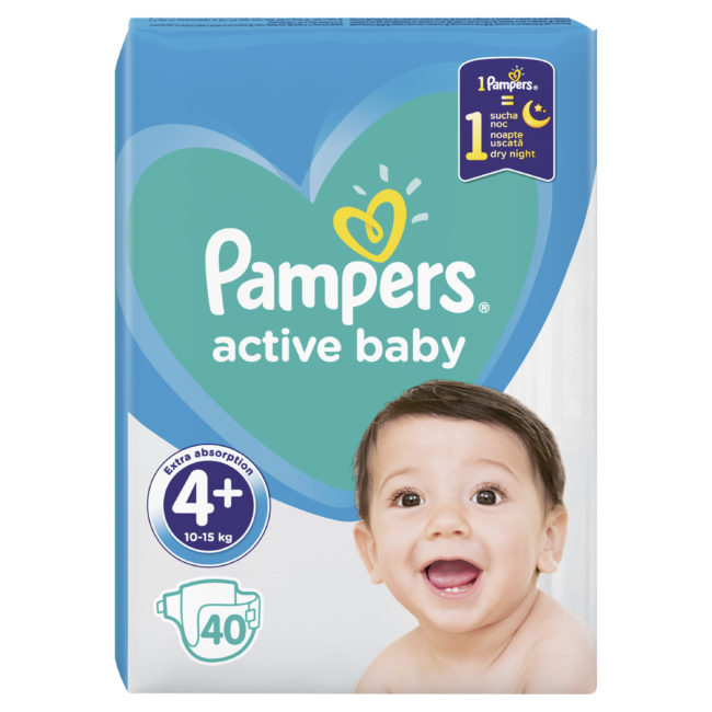 Pampers Active Baby pieluchy jednorazowe Maxi Plus