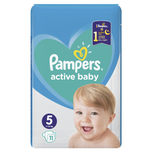 Pampers Active Baby pieluchy jednorazowe Junior