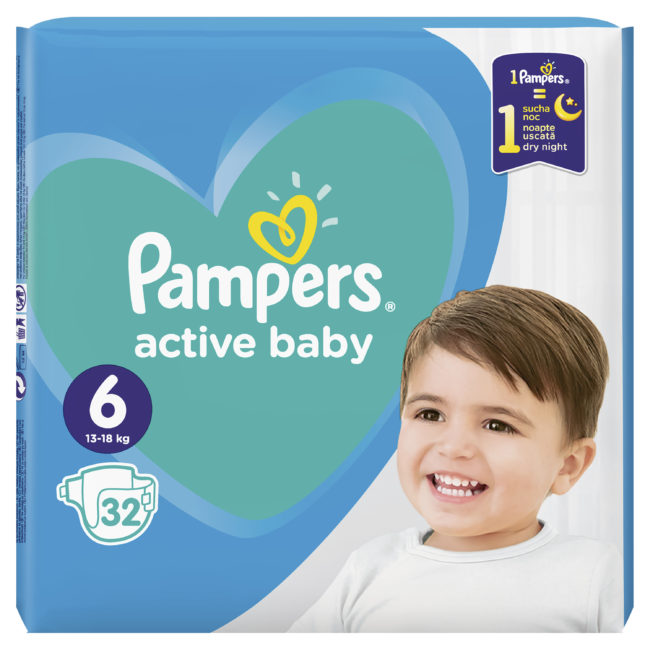 Pampers Active Baby pieluchy jednorazowe Extra Large