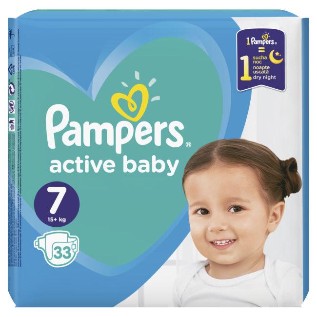 Pampers Active Baby pieluchy jednorazowe XXLarge