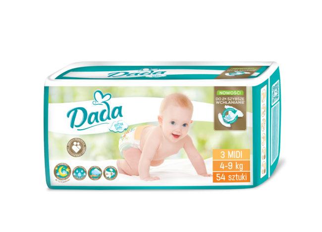 Dada Extra Soft pieluchy jednorazowe MIDI
