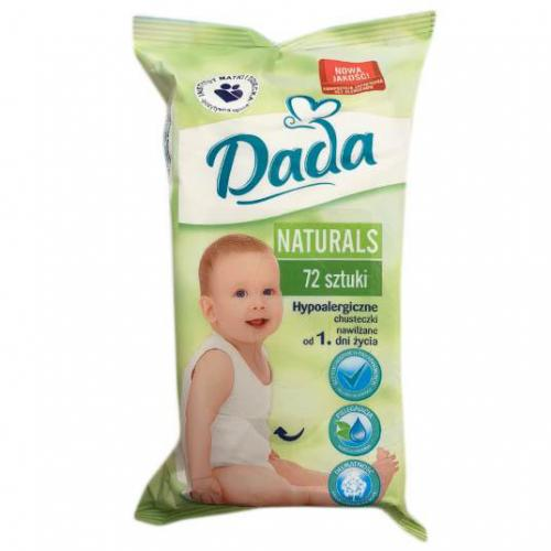 Dada Naturals chusteczki nawilżane