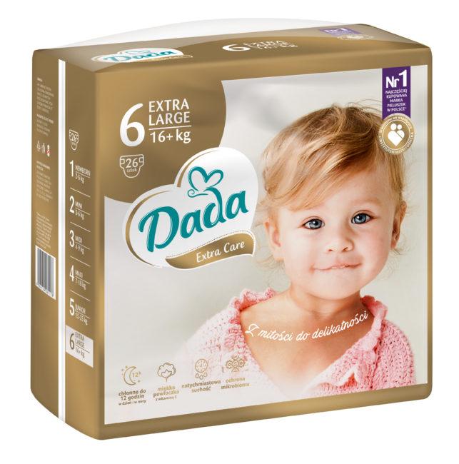 Dada Extra Care Pieluchy jednorazowe EXTRA LARGE