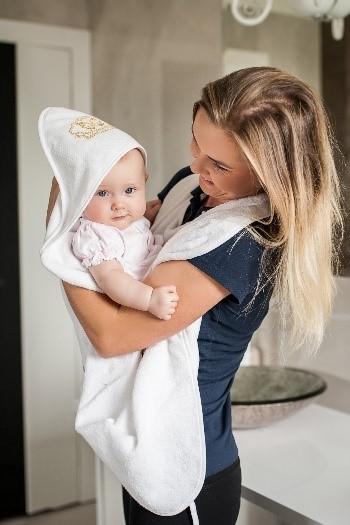 Baby Blanel ręcznik kąpielowy Gold