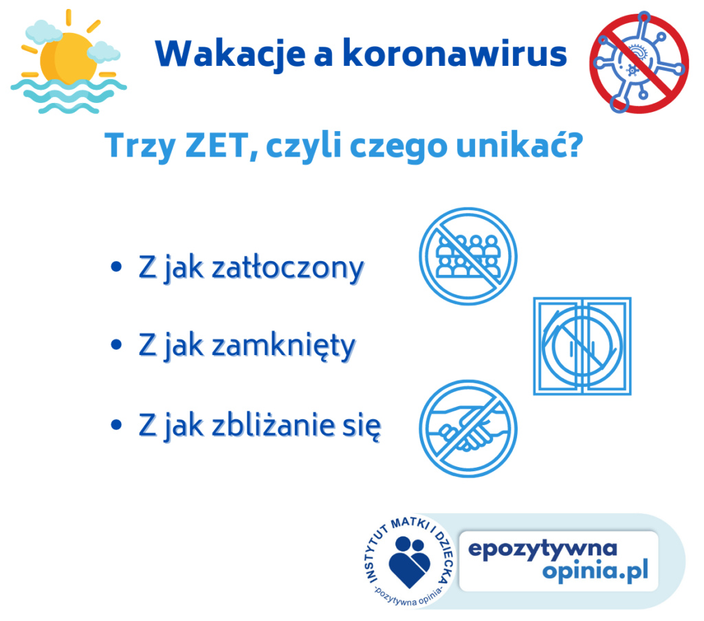 Bezpieczne wakacje a koronawirus