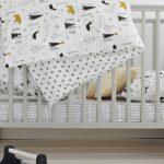 Woodies łóżeczko niemowlęce Star Cot szare