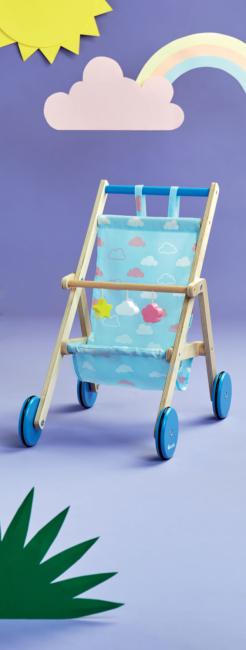 Wózeczek drewniany dla lalek