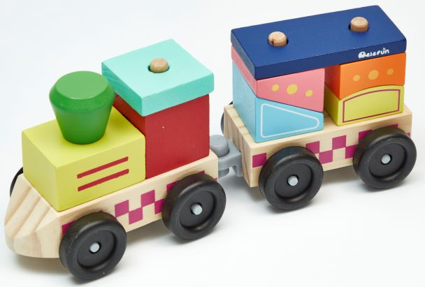 Pociąg – drewniana układanka